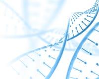 fondo medico 3D con i fili del DNA royalty illustrazione gratis