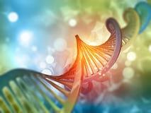 fondo medico 3D con il filo del DNA Fotografia Stock