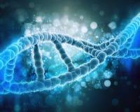 fondo medico 3D con il filo del DNA illustrazione di stock