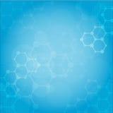 Fondo medico delle molecole astratte Immagine Stock
