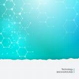 Fondo medico di chimica di tecnologia astratta delle molecole Fotografia Stock