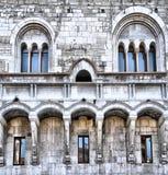 Fondo medieval del palacio Fotografía de archivo libre de regalías