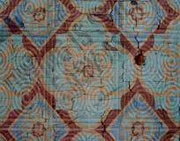 Fondo mediterráneo de la teja con textura del crujido Imágenes de archivo libres de regalías