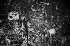 Fondo melancólico de la pared, superficie negra del cemento de la textura Fotografía de archivo libre de regalías