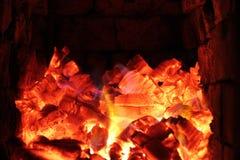 Fondo meravigliosamente acceso della legna da ardere Immagine Stock Libera da Diritti