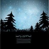 Fondo meraviglioso del paesaggio di Natale Immagine Stock