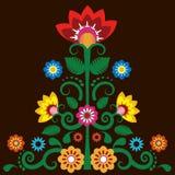 Fondo messicano dell'illustrazione del fiore illustrazione di stock