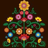 Fondo messicano dell'illustrazione del fiore illustrazione vettoriale