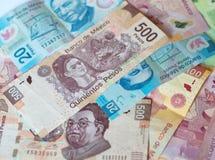 Fondo messicano differente dei soldi Fotografie Stock