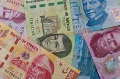 Fondo messicano differente dei soldi Fotografia Stock Libera da Diritti