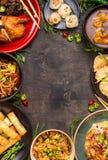Fondo messicano misto dell'alimento Fotografia Stock Libera da Diritti