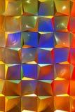 Fondo metálico abstracto adornado con la iluminación Fotos de archivo libres de regalías