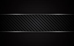 Fondo metálico abstracto de la plantilla del diseño de la textura de Kevlar del carbono del marco stock de ilustración