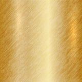 Fondo metálico abstracto del oro del vector Fotografía de archivo