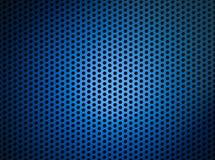 Fondo metálico azul de la red o de la parrilla Fotografía de archivo libre de regalías
