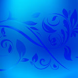 Fondo metálico azul de la textura de la hoja con la decoración Foto de archivo libre de regalías