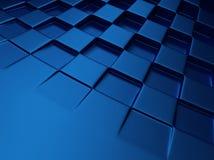 Fondo metálico azul del ajedrez Fotografía de archivo libre de regalías