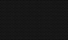 Fondo metálico de la pared de la textura plana del carbono del panal Fotos de archivo
