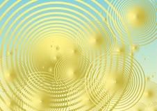 Fondo metálico de oro de la burbuja Imágenes de archivo libres de regalías
