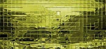 Fondo metálico del amarillo agradable del pixel Stock de ilustración