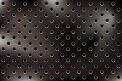 Fondo metálico del vector con los agujeros libre illustration