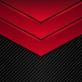 Fondo metálico negro y rojo Bandera metálica del vector Fondo abstracto de la tecnología Fotografía de archivo libre de regalías