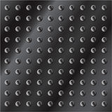 Fondo metálico oscuro con los tornillos Foto de archivo