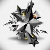 Fondo metálico oscuro de los elementos de las estrellas del vector Fotos de archivo libres de regalías
