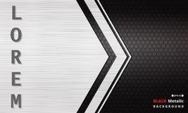 Fondo metálico oscuro negro moderno de la rejilla de la textura
