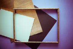 Fondo metalizado de oro del vintage de la textura fotografía de archivo libre de regalías