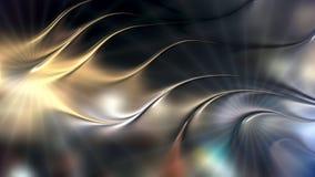 Fondo metallico astratto dell'onda 3d immagine stock libera da diritti
