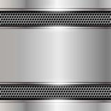 Fondo metallico con spazio per testo. Fotografia Stock Libera da Diritti