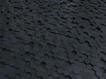 Fondo metallico dei pannelli 3d del favo dell'estratto Fondo o struttura scuro esagonale metallico illustrazione vettoriale