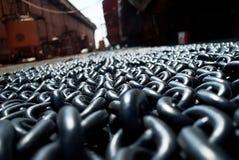 Fondo metallico delle catene Fotografia Stock Libera da Diritti