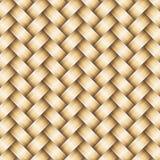 Fondo metallico dorato del lavoro in vimini di vettore illustrazione vettoriale