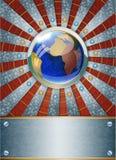 Fondo metallico futuristico. Fotografia Stock Libera da Diritti
