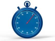 Fondo metallico isolato del cronometro Immagine Stock