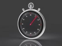 Fondo metallico isolato del cronometro Fotografie Stock Libere da Diritti