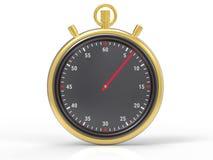 Fondo metallico isolato del cronometro Immagine Stock Libera da Diritti