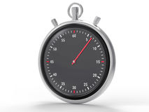 Fondo metallico isolato del cronometro Immagini Stock