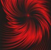 Fondo metallico nero e rosso astratto con il turbinio Fotografie Stock Libere da Diritti