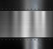 Fondo metallico nero eccessivo di piastra metallica con illustrazione vettoriale