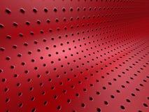 Fondo metallico rosso astratto 3d Fotografia Stock Libera da Diritti
