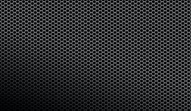 Fondo metallico scuro di struttura del modello della maglia Fotografia Stock