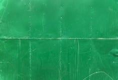 Fondo metallico verde dello strato Fotografia Stock