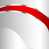 Fondo metálico abstracto con el elemento rojo Imagenes de archivo