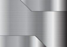 Fondo metálico gris abstracto de la textura Foto de archivo