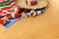 Fondo mexicano de la playa Fotografía de archivo