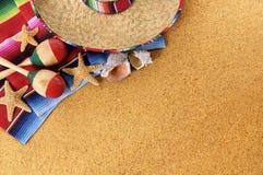 Fondo mexicano de la playa Fotos de archivo