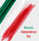 Fondo mexicano del Día de la Independencia con el corazón del grunge Foto de archivo libre de regalías